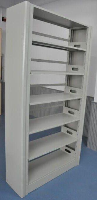 通辽单面钢制书架图书馆专用-生产型企业