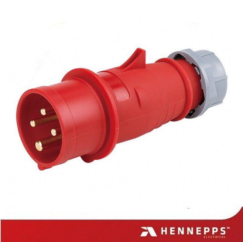 汉奈32A防水工业插头插座 400V工地插头 4芯高铁室外防水接线装置