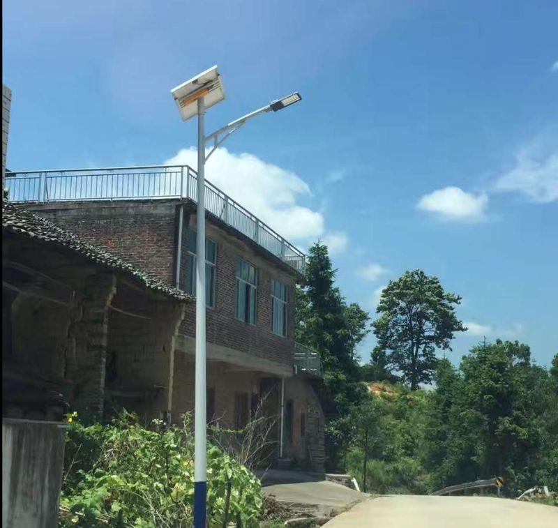 湖南太阳能路灯安装调试中 led路灯安装中