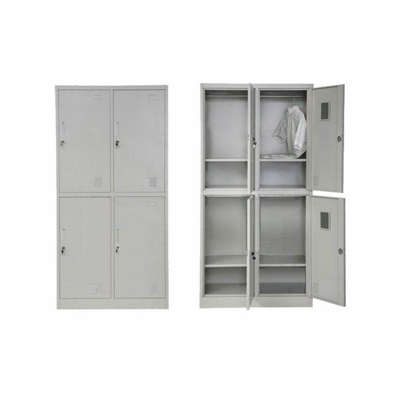 员工更衣柜钢制铁皮储物柜浴室健身房存包更衣矮柜厂家