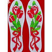 绣鞋垫的花样手工十字绣鞋垫图纸