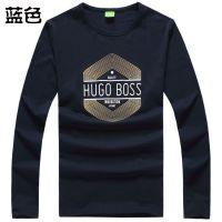供应Hugo Boss波士长袖t恤男圆领纯棉直筒商务休闲香港款 大码 打底衫