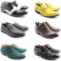 特价 高质量福建休闲皮鞋 男装高跟尖头韩版潮款低帮鞋 个性酷款