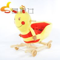 批发新款两用宝宝推车摇摇椅儿童木马两用宝宝音乐摇马卡通甲虫