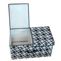 厂家供应无纺布防水防潮大号双盖箱 折叠收纳箱 收纳盒