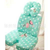 马戏团绿大象毛绒慢回弹记忆棉腰枕靠坐垫 U型枕 家居枕头 可拆洗