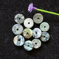 天然湖北绿松石隔片垫片隔珠散珠DIY饰品金刚星月菩提佛珠配件