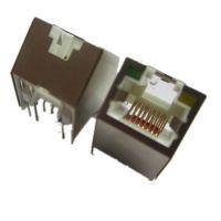 东莞供应斜45度带LED屏蔽RJ45插座