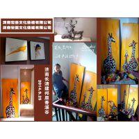 济南宏艺文化公司专业墙绘--济南长清建邦原香溪谷室内装饰画