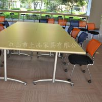 厂家直销广州[欧式SP-CS299] 学校或培训机构使用的可折叠培训桌椅
