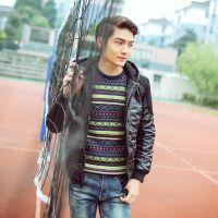 2014韩版冬装新款时尚百搭男式棉服棉袄男青少年防寒保暖外套潮