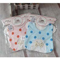 多朵牛品牌婴儿口水巾婴儿小花点围嘴,新款围嘴围兜批发A8014