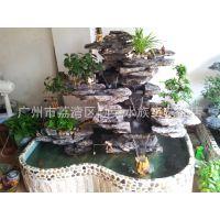 家居假山流水喷泉 室内加湿器 招财流水摆设花园小型假山造景装饰