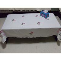丝带绣桌布 田园绣花台布 餐桌布 茶几布艺桌布60-150方形桌布