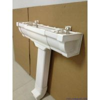 PVC雨水槽 成品排水天沟 PVC雨水管价格 杭州可成专业生产PVC集成落水系统