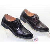 【商家力荐】新款时尚尖头低帮商务正装搭配前系带休闲男士皮鞋