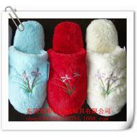 定做毛绒保暖拖鞋 秋冬季女款布拖鞋 东莞毛绒拖鞋生产厂家