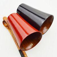 高档精美杯具 创意天然整木红黑色创意情侣茶杯对杯 木质水杯