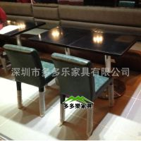 厂家定制四人位餐桌 大理石餐桌 防火板餐桌