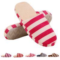 2014秋冬新款条纹室内居家拖鞋情侣 保暖棉拖鞋一件代发可定做