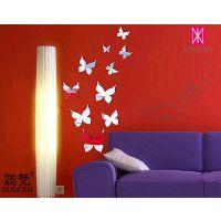 jy136蝴蝶速卖通亚马逊热卖亚克力DIY3D可移创意家居装饰镜面墙贴