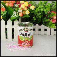 供应荷兰乳牛黑白淡奶 全脂淡奶 港式奶茶必备410g 1*48/件 整件390元