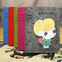 批发韩版可爱卡通糖果色毛毡包 毛毡布艺手工卡包 羊毛毡银行卡包