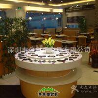 深圳火锅店自助调料台 大理石酱料台 水果展示台
