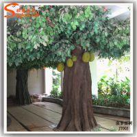 商场布置仿真植物 大型工程设计仿真菠萝蜜树 厂家定做假果树