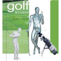 供应打高尔夫球姿势的运动模特