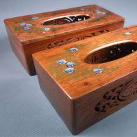 批发越南红木纸巾盒 长方形花梨木小号抽纸盒 平板木盒子年末处理