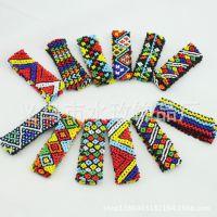 南美洲波西米亚非洲民族异域风情纯手工编织串珠手链 民族批发