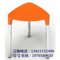 厂家特供 出口高品质三角形 塑料凳子 餐厅椅子 塑胶椅