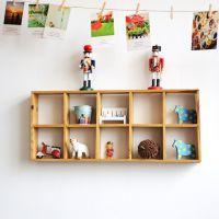 zakka杂货 10格壁挂 收纳盒 墙面装饰 礼品工艺品 横竖两用C0903