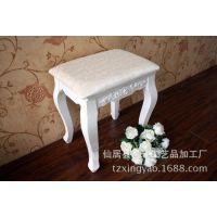 厂价直销 田园梳妆凳 欧式风格 实木化妆凳 坐凳 换鞋凳子