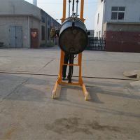 供应直销多功能手动液压油桶堆高车 油桶倒料车 可倾油桶升高车 油桶堆高机
