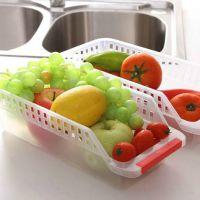 110创意家居 长方形耐热冰箱无盖透明塑料保鲜盒0.078