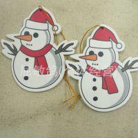 厂家供应木质礼品圣诞雪人挂件  圣诞节摆件挂件 圣诞树雪花