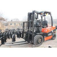 厂家直销3吨内燃式叉车 高位排气 三级5米全自由加高门架柴油叉车
