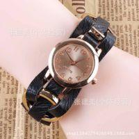2013款 皮革玫瑰金手表 女士手表  编制手表 大量现货 速卖通