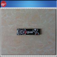杭州欧弘辅料厂家商标定做 高档品牌服装领标 码标织唛订做