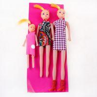 三个洋人 娃娃公仔儿童玩偶益智玩具批发 2元店两元超市货源