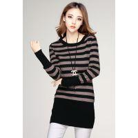 2014秋冬新款毛针织衫羊绒衫中长款女套头毛衣韩版修身女打底衫