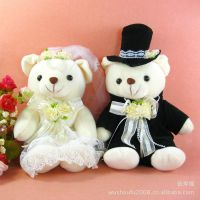 W305结婚婚庆用品批发 压床娃娃 婚庆娃娃 情侣泰迪熊 婚纱熊