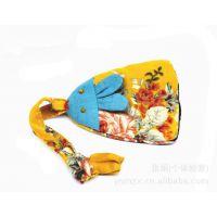 0733云南民族轩时尚饰品 钥匙车挂包挂手工布艺可爱兔钥匙扣