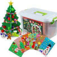 创意玩具儿童圣诞礼物diy手工大礼包材料包立体贺卡挂件圣诞树