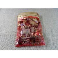 供应厂家定做红色高级柯根纱束口袋 出口外贸印刷LOOG柯根纱束口袋