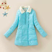 素颜 2014冬装西装大翻领双插袋双门襟韩版修身时尚加厚棉衣外套