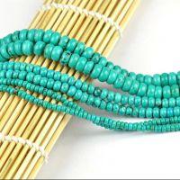 DIY 手工饰品配件批发 水晶 美国绿松石盘珠 隔珠 散珠半成品