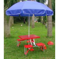 厂家现货批发与定制ABS折叠桌椅、户外联体式折叠桌、塑料面板折叠桌椅